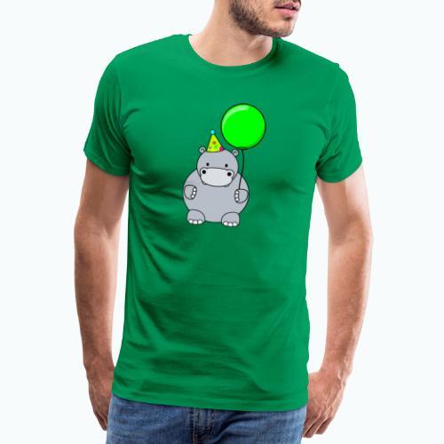 Henri Hippo Party - Appelsin - Premium-T-shirt herr