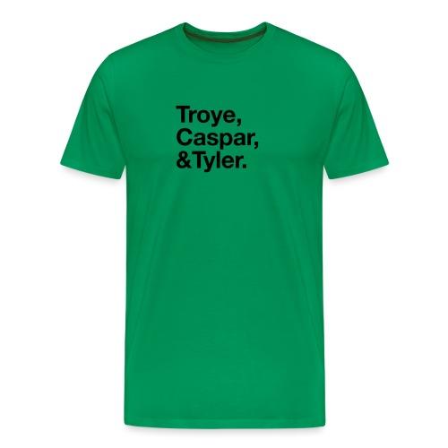 TROYE CASPAR AND TYLER - YOUTUBERS - Maglietta Premium da uomo
