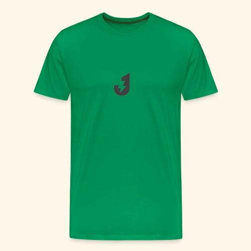 Large J Logo Print - Men's Premium T-Shirt