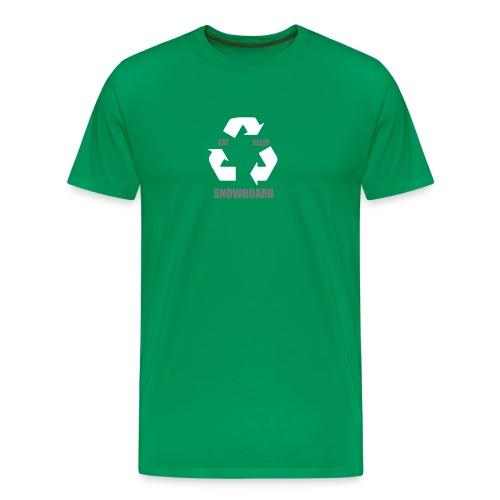eatsleepsnowboard greenarrows - Men's Premium T-Shirt