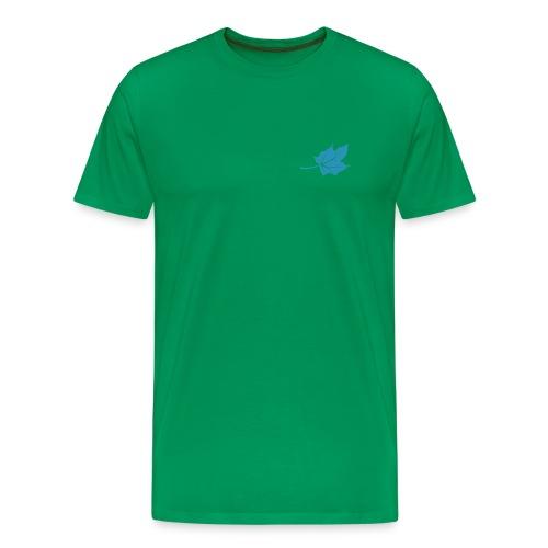 logo blatt only 1c - Männer Premium T-Shirt