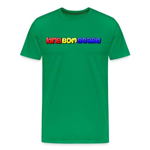 KingBomBeard Text png - Men's Premium T-Shirt