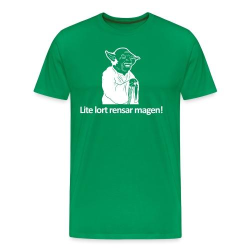 skalleyoda lort - Premium-T-shirt herr
