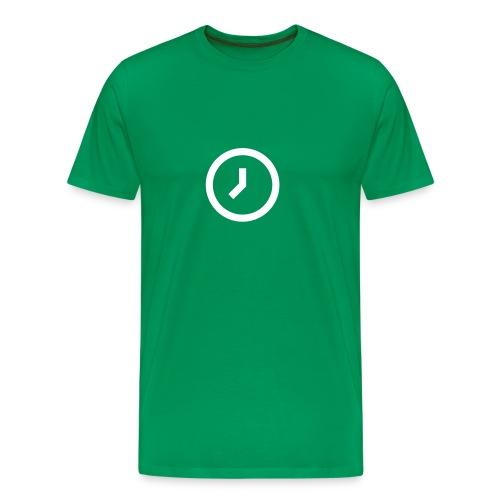 klocka - Premium-T-shirt herr