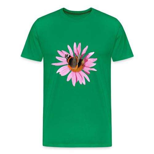 TIAN GREEN Garten - Sonnenhut Schmetterling - Männer Premium T-Shirt