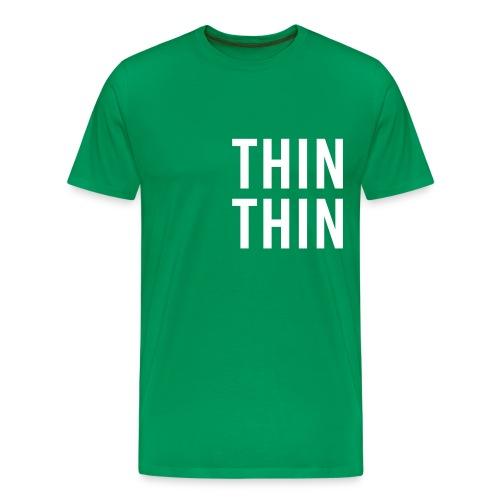 Logo Thinks Thinking WHIT - Männer Premium T-Shirt