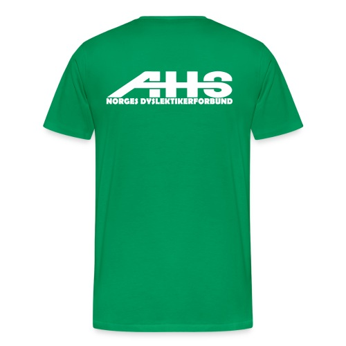 AHS - Norges Dyslektikerforbund - Premium T-skjorte for menn
