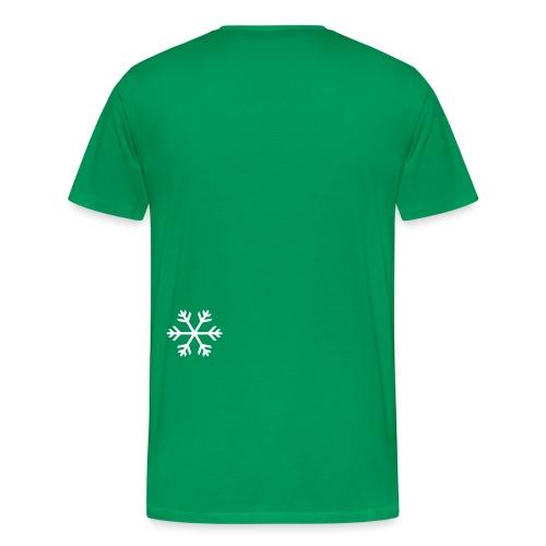 Grüne Schleife Schneeflocke - Männer Premium T-Shirt