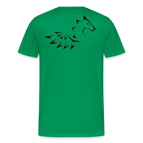 Black yin dragon - Premium-T-shirt herr