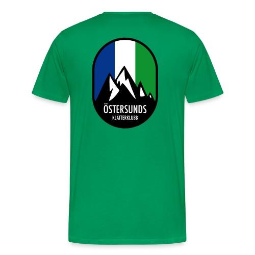Östersunds klätterklubb, logga - Premium-T-shirt herr