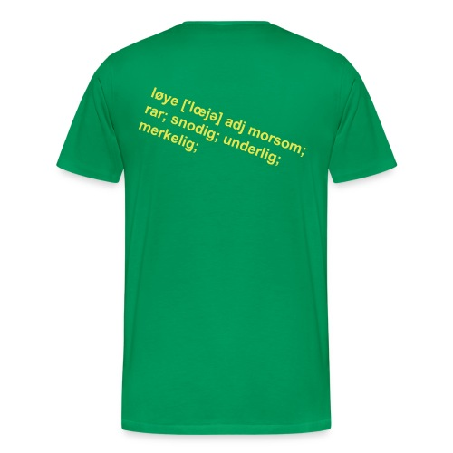 Løye - trykk på ryggen herre - Premium T-skjorte for menn