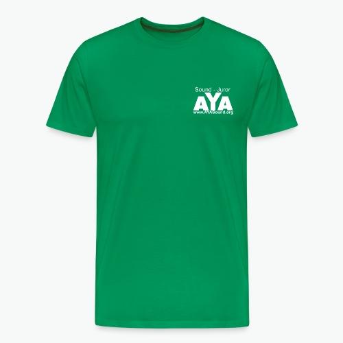 aya_sound_juror vorne wei - Männer Premium T-Shirt
