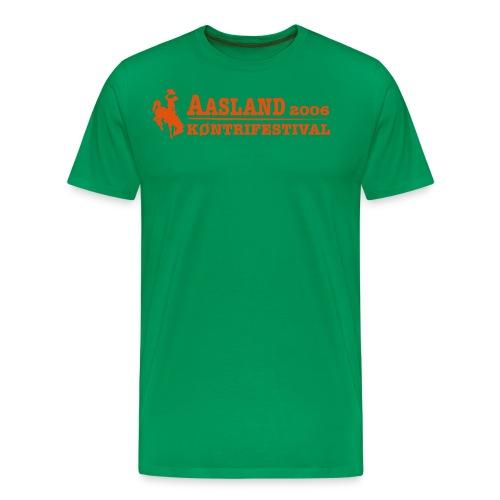 akf logo med dato - Premium T-skjorte for menn