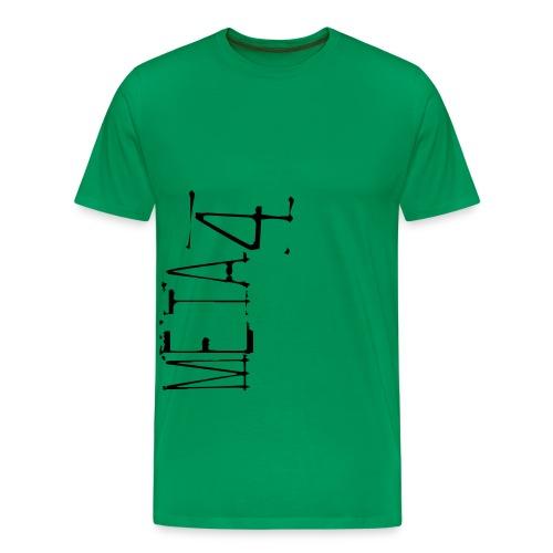 Meta4 Font Vector T-shirts - Men's Premium T-Shirt