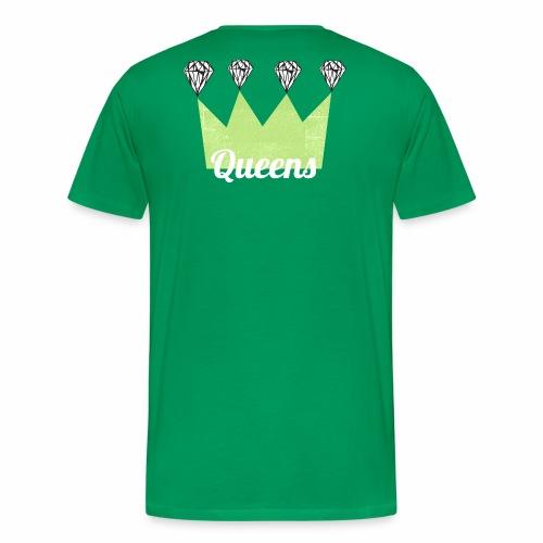 logo_queens_v4_vihr_valk - Miesten premium t-paita