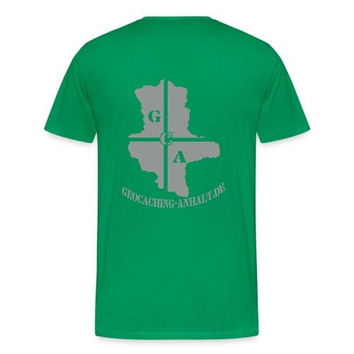 Logo schwarz mit URL - Männer Premium T-Shirt