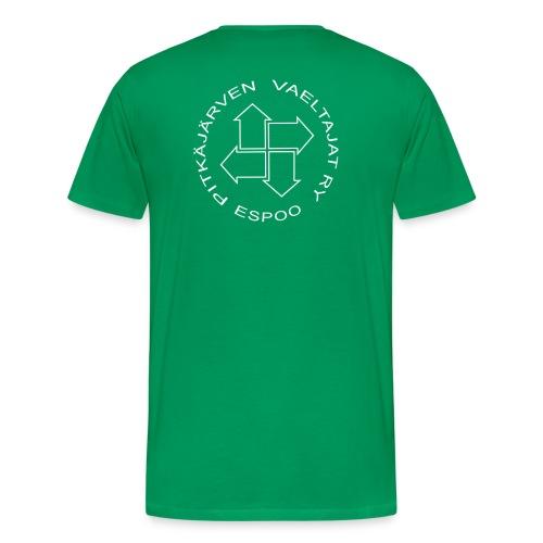 logovalkoinen ilmantaustaa - Miesten premium t-paita