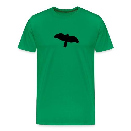 Sperber von unten schwarz - Männer Premium T-Shirt
