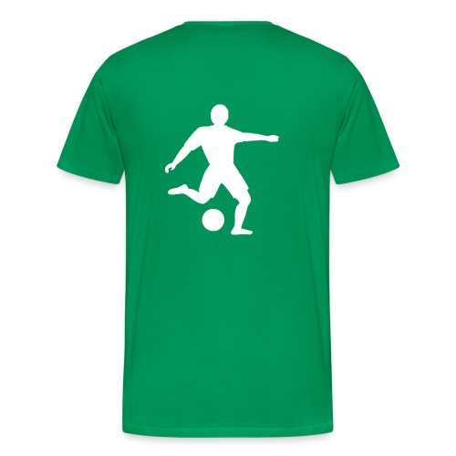 Fussballer schwarz - Männer Premium T-Shirt