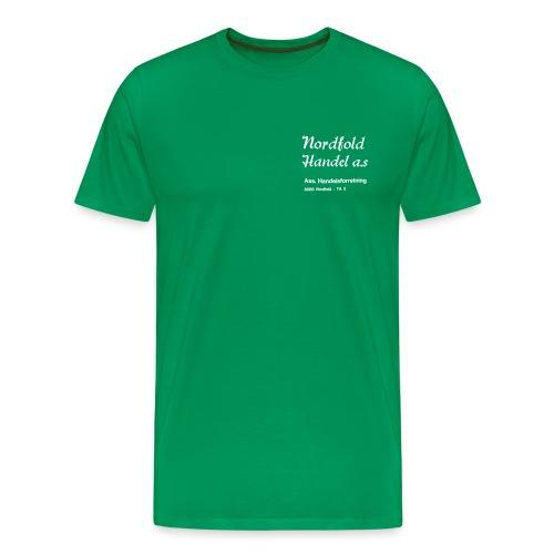 NH Logo vertikal - Premium T-skjorte for menn