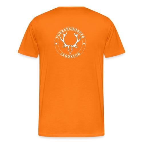 pjk logo weiss png - Männer Premium T-Shirt