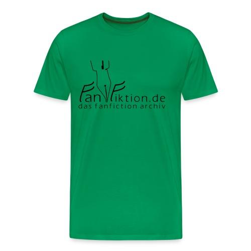 Logo Schwarz auf Weiß (classic) - Männer Premium T-Shirt