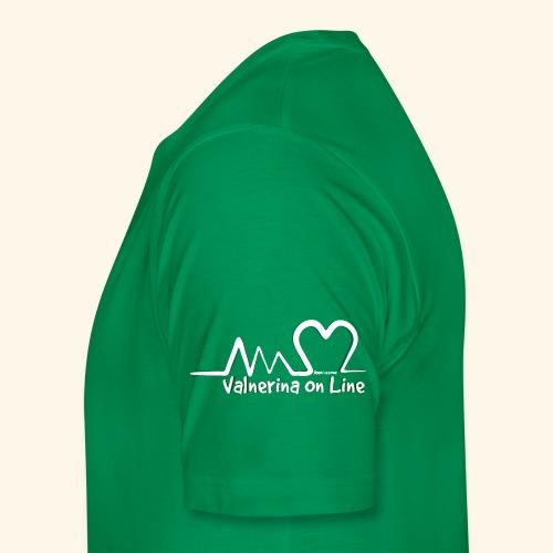 Valnerina On line APS logo bianco con ombra - Maglietta Premium da uomo