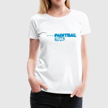 Paintball,Paintballmaske,Markierer,Farbkugel,Waffe - Frauen Premium T-Shirt