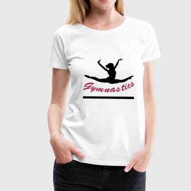 gymnast, gymnastik - Premium-T-shirt dam