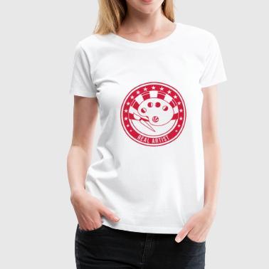 konst / konstnär / musik / art / artist / design - Premium-T-shirt dam
