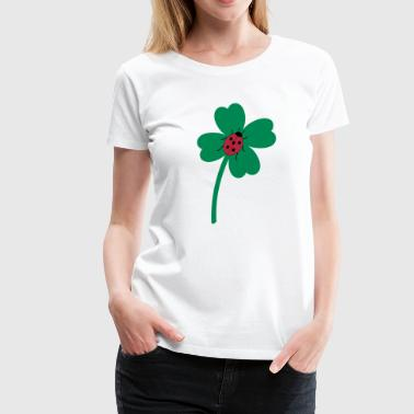 Alles Gute Glücksklee Kleeblatt mit Marienkäfer - Frauen Premium T-Shirt
