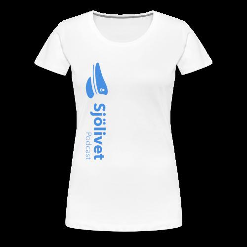 Sjölivet podcast - Svart logotyp - Premium-T-shirt dam