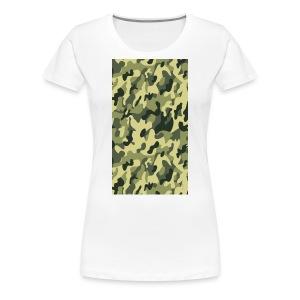 camouflage slippers - Vrouwen Premium T-shirt