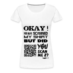 QR shirt for nosy people - Vrouwen Premium T-shirt