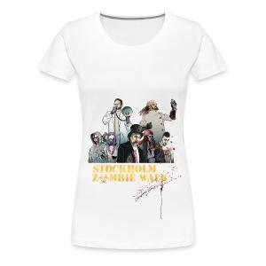 Stockholm Zombie Walk 2016 - Svart Långärm Dam - Premium-T-shirt dam