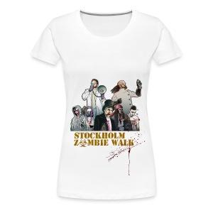 Stockholm Zombie Walk 2016 - Baseball S/V Herr - Premium-T-shirt dam