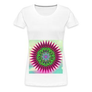 Mandala Flower - Premium T-skjorte for kvinner
