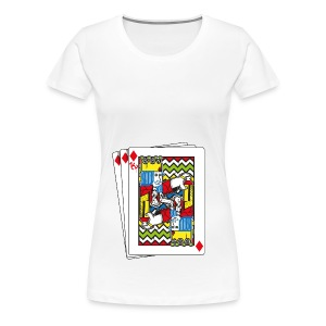 King Playing Card holding a Spraycan - Vrouwen Premium T-shirt