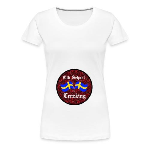 Old School Trucking - Premium-T-shirt dam