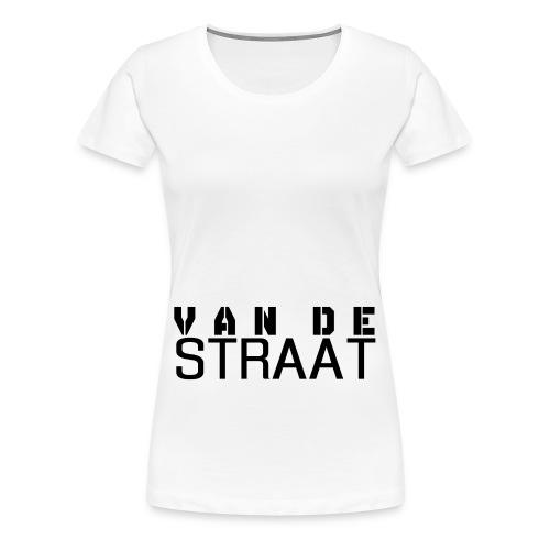 Van De Straat - Wit - Vrouwen Premium T-shirt
