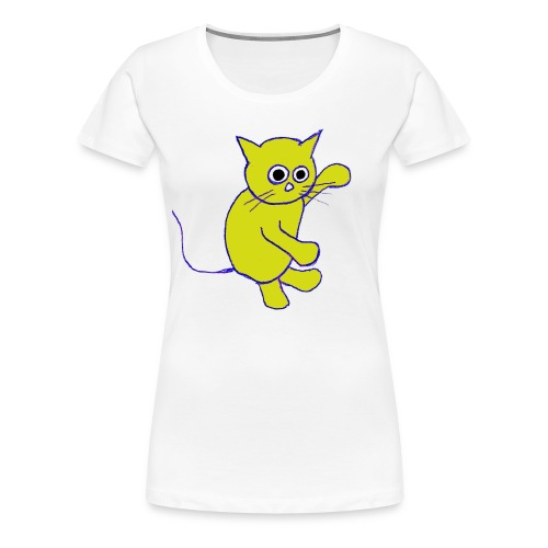 Hugo Puddlebucket Meow the cat - Women's Premium T-Shirt