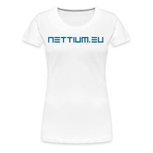 Nettium.eu logo blue - Women's Premium T-Shirt