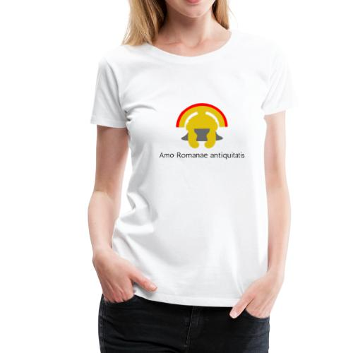 Casque antique de centurion en or (Latin) - T-shirt Premium Femme