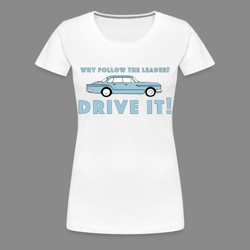 Vintage Plymouth Valiant slogan with car drawing - Premium-T-shirt dam
