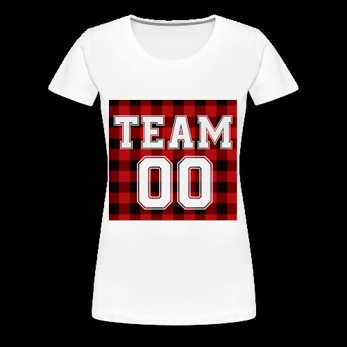 TEAM 00 T-shirt White - Vrouwen Premium T-shirt