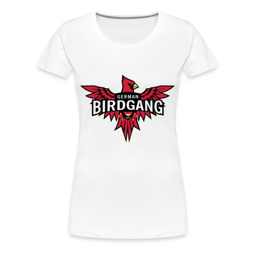 German Birdgang Logo White - Frauen Premium T-Shirt