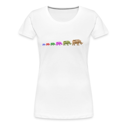 Limited Edition Russell Rhino - Women's Premium T-Shirt
