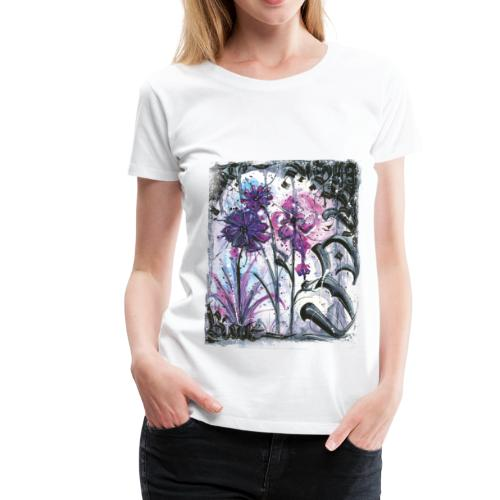Crazy Flowers - Frauen Premium T-Shirt