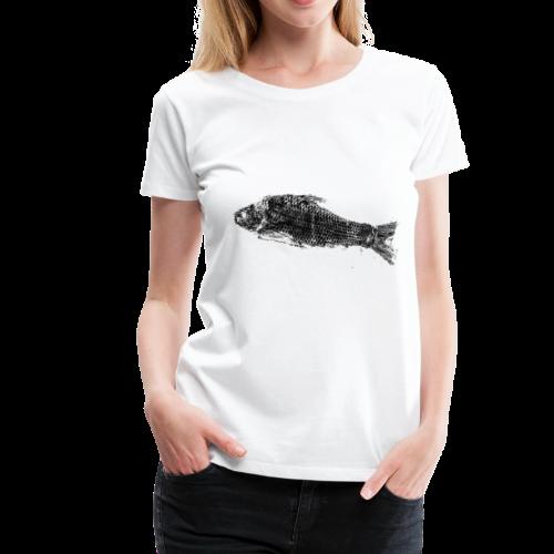 Gyotaku fish ink print - Women's Premium T-Shirt
