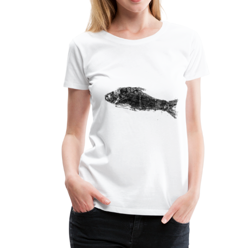 Gyotaku fish ink print - Women's Premium T-Shirt